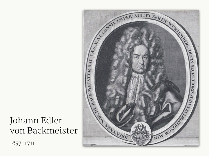 Johann Edler von Backmeister